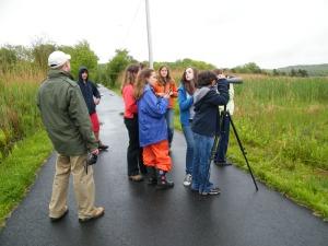 The Conservation Club checks out an osprey nesting platform