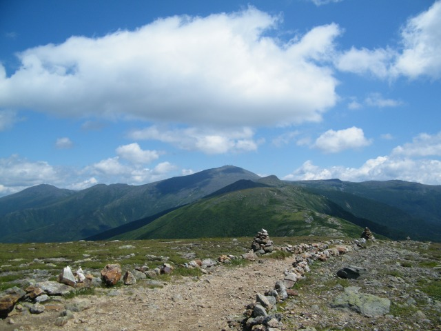 Looking back at Mt. Washington from the summit of Eisenhower.