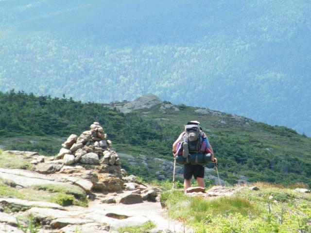 Following an Appalachian Trail thru-hiker down the Crawford Path.