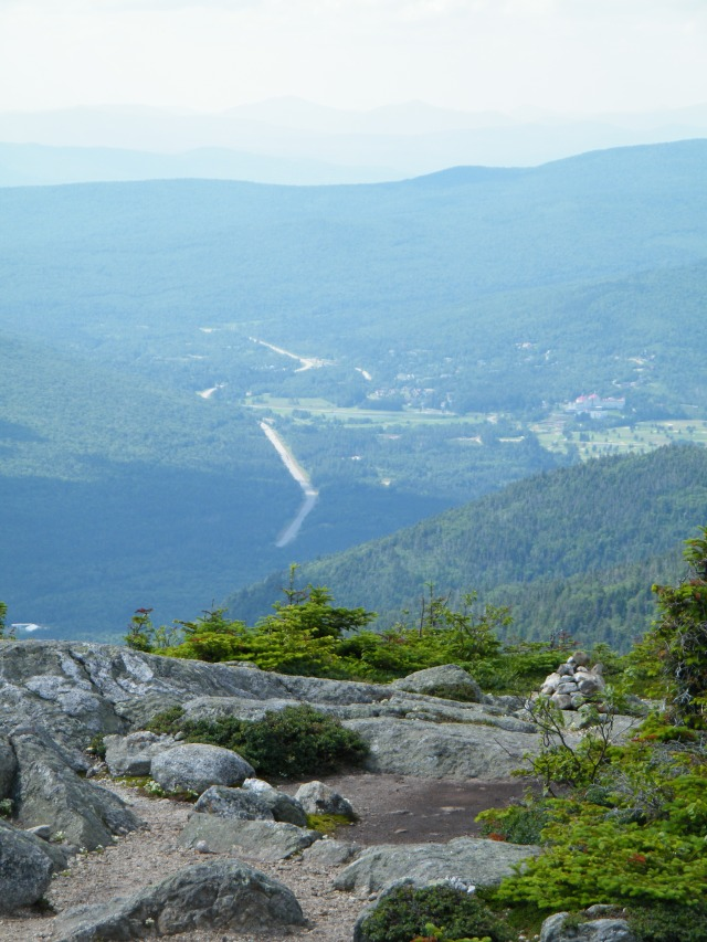 Looking in to Crawford Notch from the summit of Jackson.