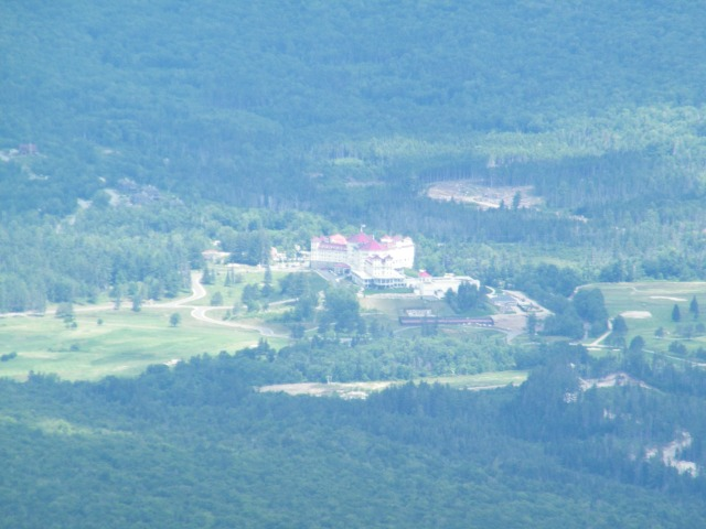 Looking down at the Mt. Washington Resort from the summit of the 4,340-foot Mt. Field.