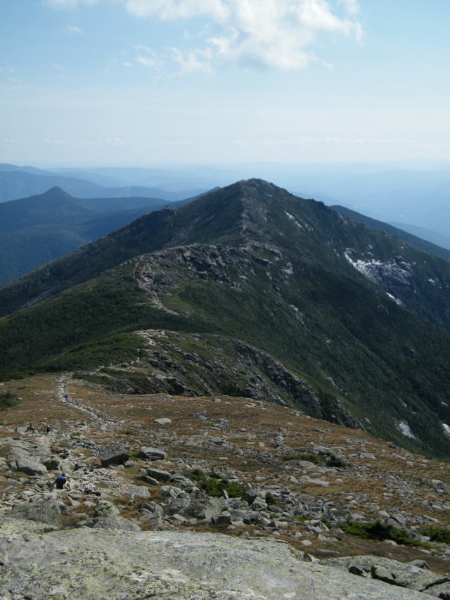 Looking down Franconia Ridge Trail, from Lafayette to Lincoln.